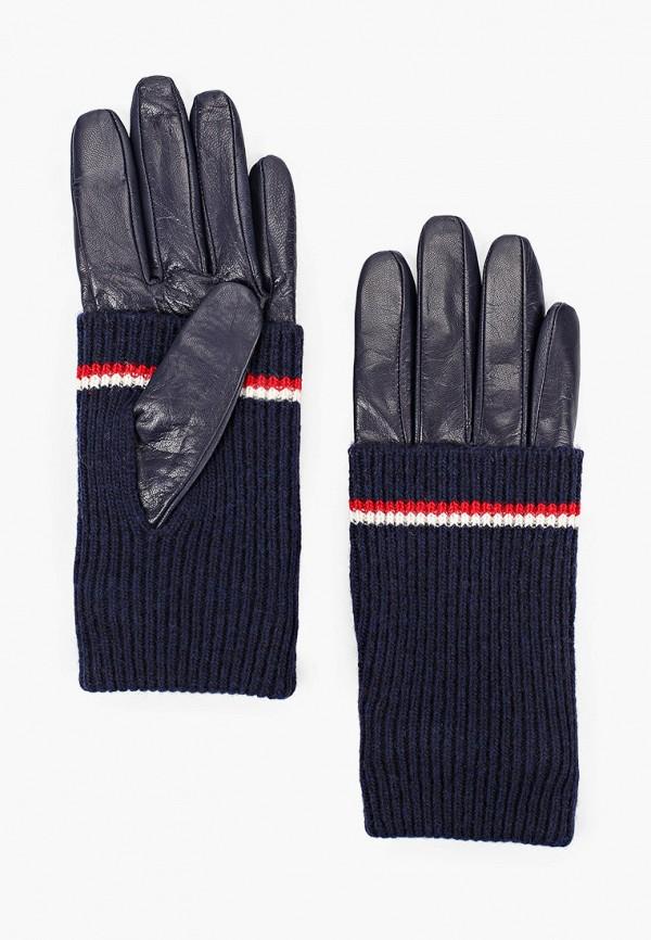 женские перчатки tommy hilfiger, синие