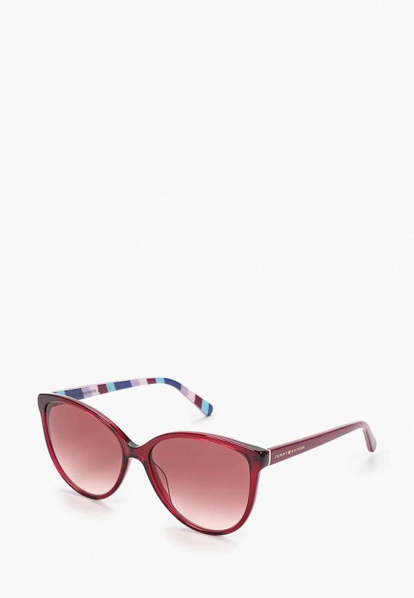 женские солнцезащитные очки tommy hilfiger, красные
