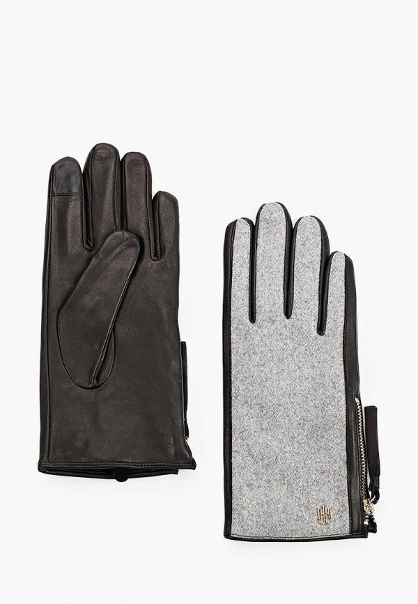 Перчатки Tommy Hilfiger серого цвета