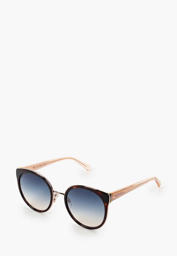 женские круглые солнцезащитные очки tommy hilfiger, коричневые