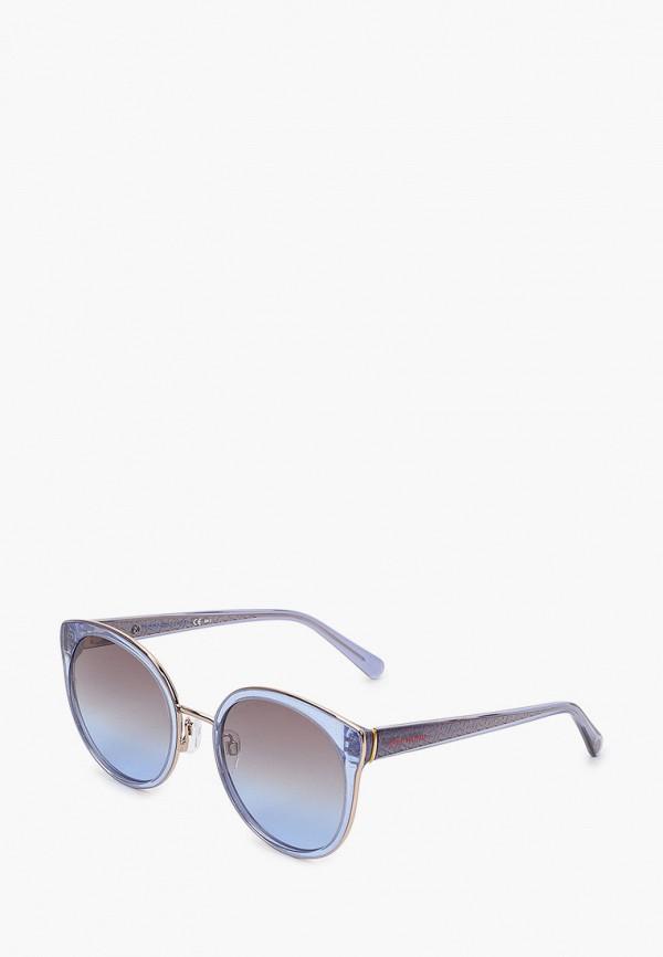 женские круглые солнцезащитные очки tommy hilfiger, голубые