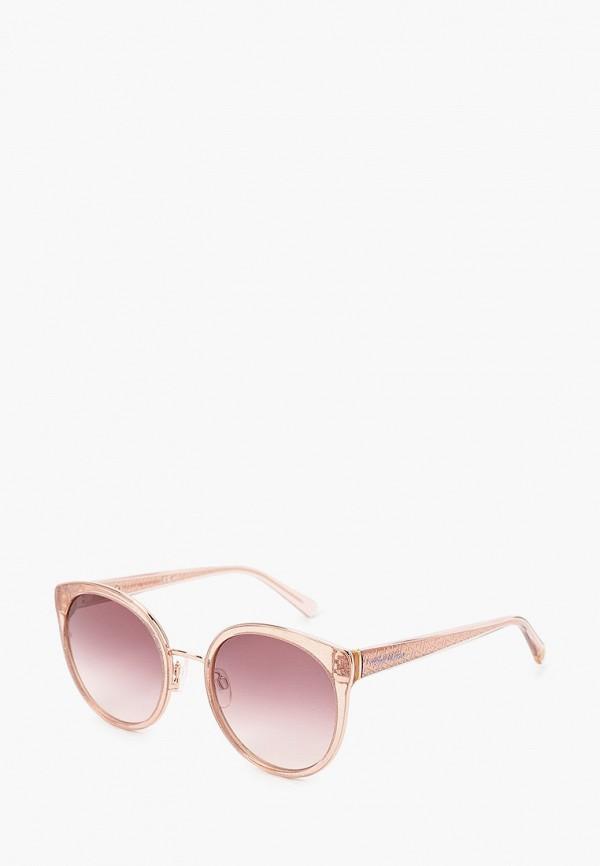 женские солнцезащитные очки кошачьи глаза tommy hilfiger, бежевые