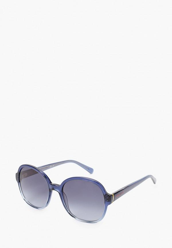 женские квадратные солнцезащитные очки tommy hilfiger, синие