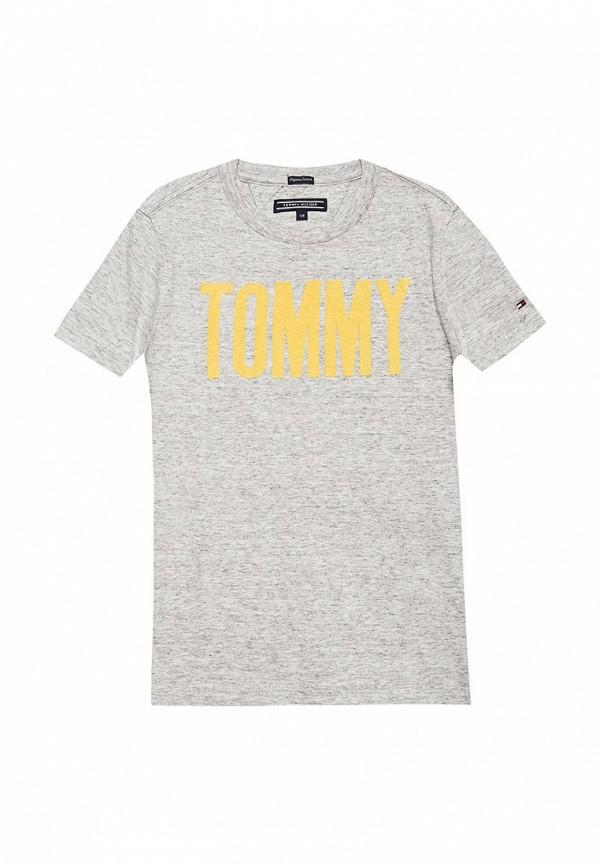 Купить Футболка Tommy Hilfiger, TO263EBACLJ2, серый, Весна-лето 2018