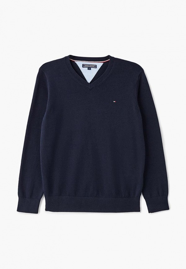 пуловер tommy hilfiger для мальчика, синий