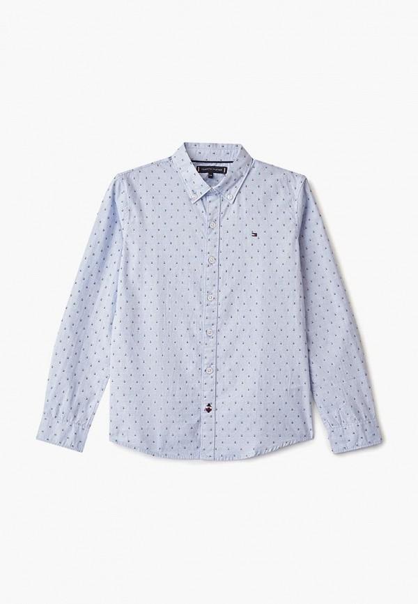 рубашка tommy hilfiger для мальчика, голубая