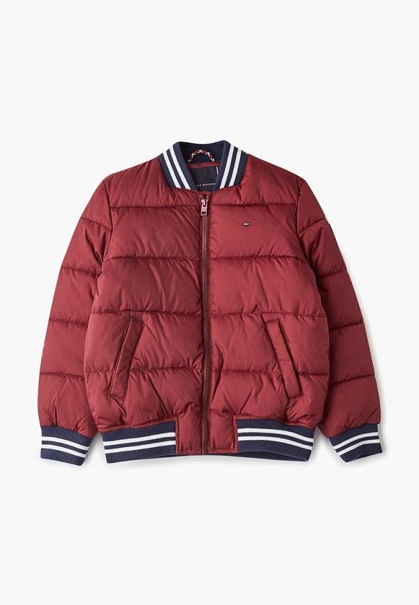 куртка tommy hilfiger для мальчика, бордовая