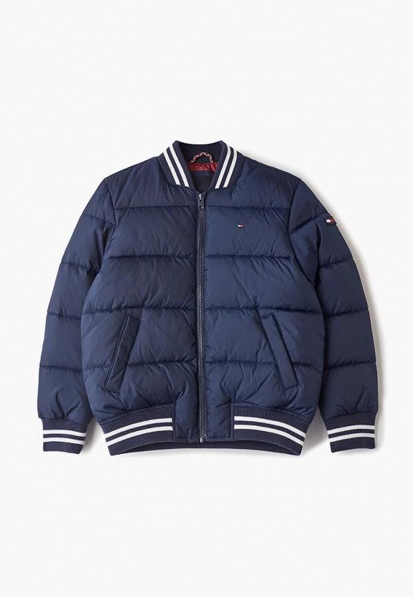 куртка tommy hilfiger для мальчика, синяя