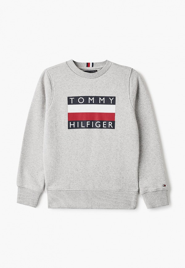 свитшот tommy hilfiger для мальчика, серый