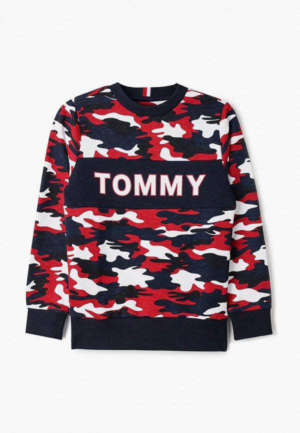 свитшот tommy hilfiger для мальчика, разноцветный