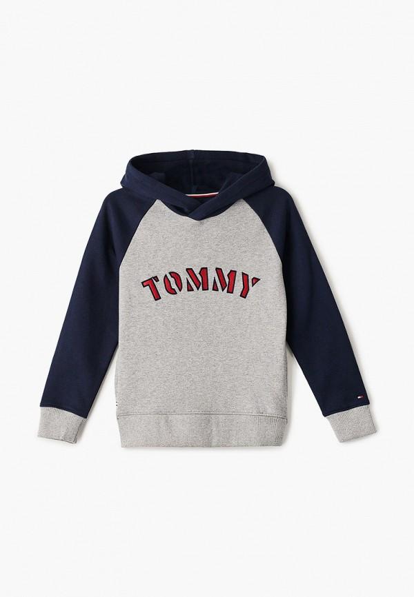 худи tommy hilfiger для мальчика, серые