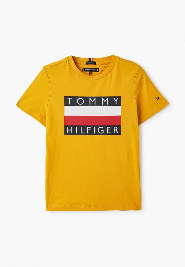 футболка с коротким рукавом tommy hilfiger для мальчика, желтая