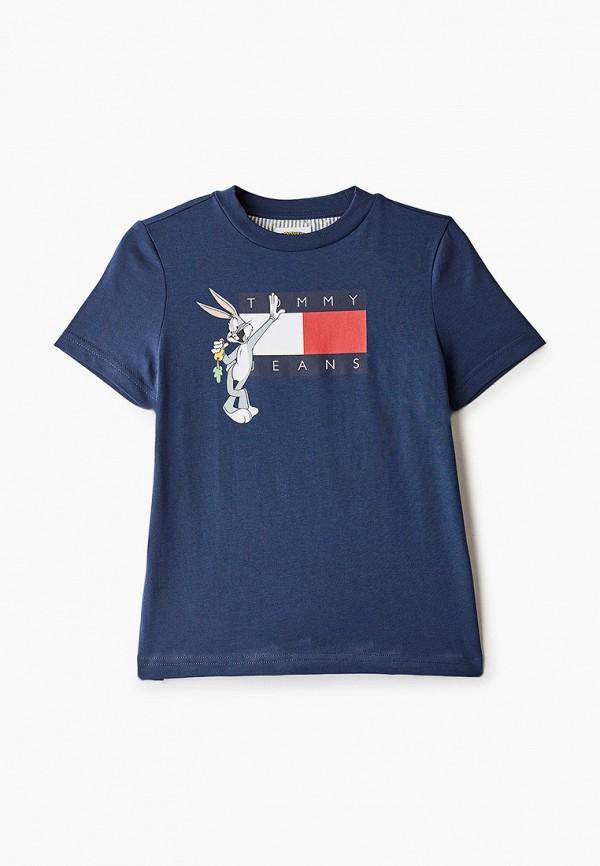 футболка с коротким рукавом tommy jeans для мальчика, синяя