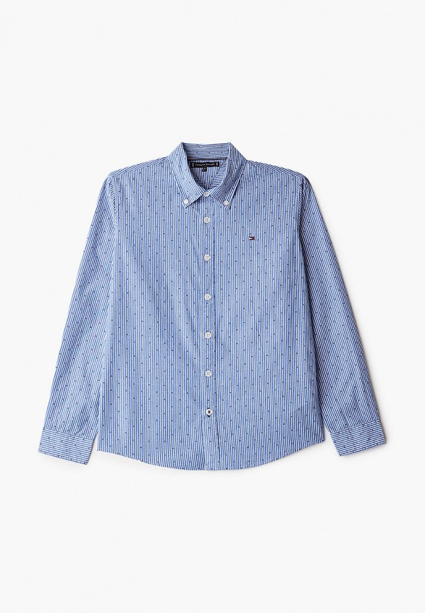 рубашка tommy hilfiger для мальчика, синяя