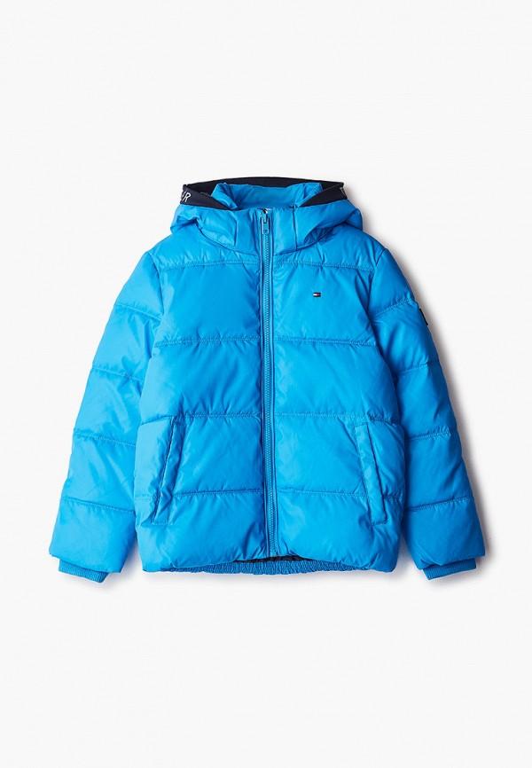 утепленные куртка tommy hilfiger для мальчика, синяя