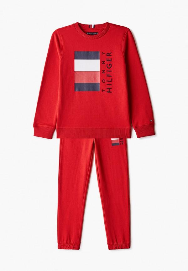 спортивный костюм tommy hilfiger для мальчика, красный