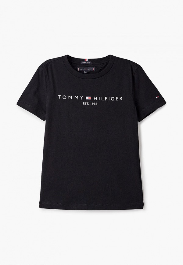 футболка с коротким рукавом tommy hilfiger для мальчика, черная