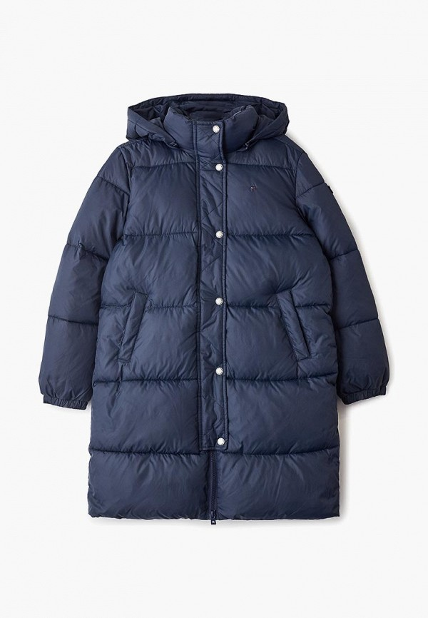 куртка tommy hilfiger для девочки, синяя