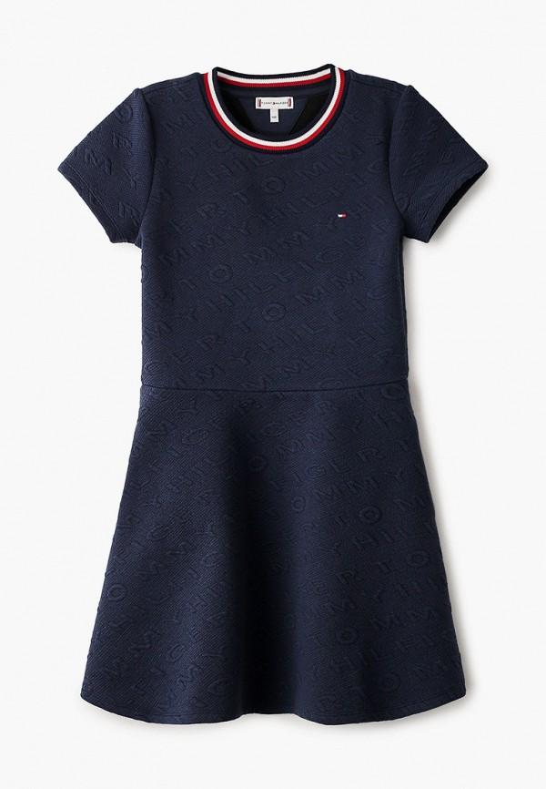повседневные платье tommy hilfiger для девочки, синее