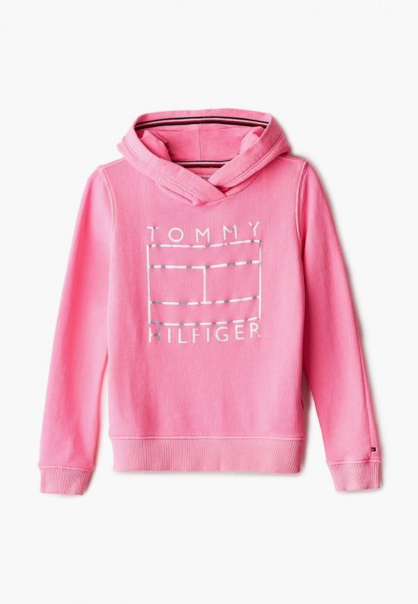 худи tommy hilfiger для девочки, розовые