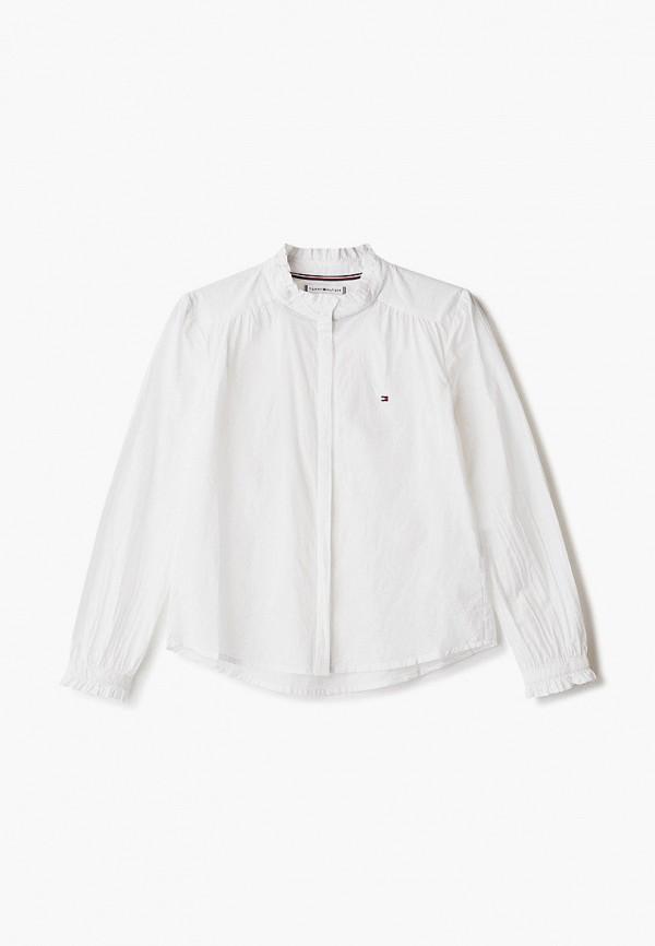 рубашка tommy hilfiger для девочки, белая