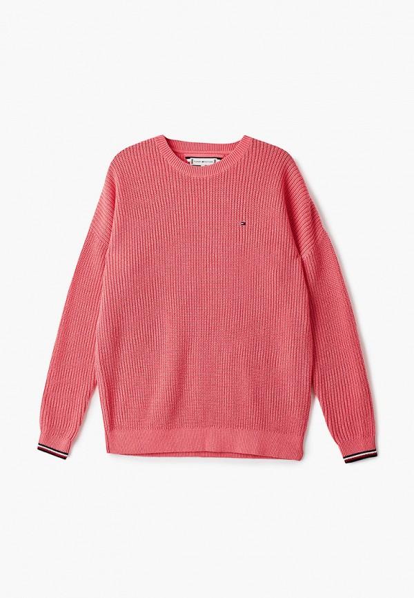 джемпер tommy hilfiger для девочки, розовый