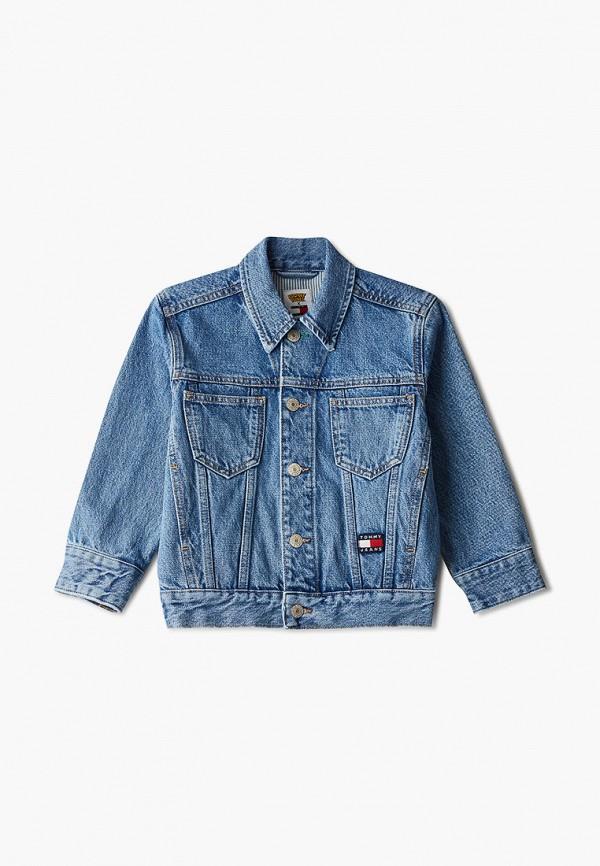 куртка tommy jeans малыши, синяя