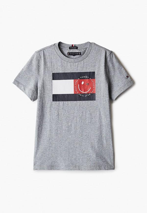 футболка с коротким рукавом tommy hilfiger малыши, серая