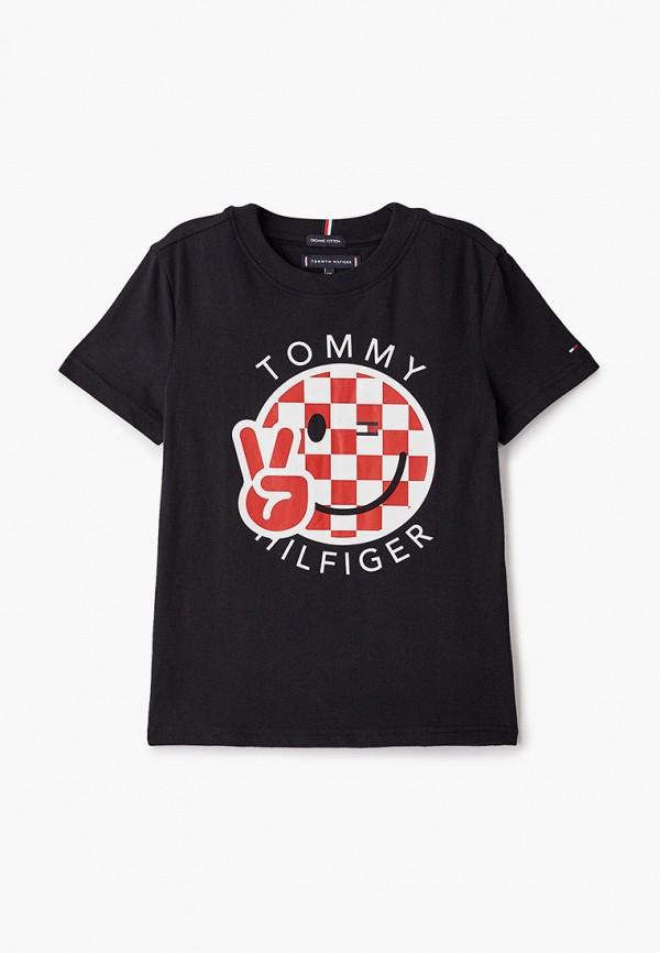 футболка с коротким рукавом tommy hilfiger малыши, черная