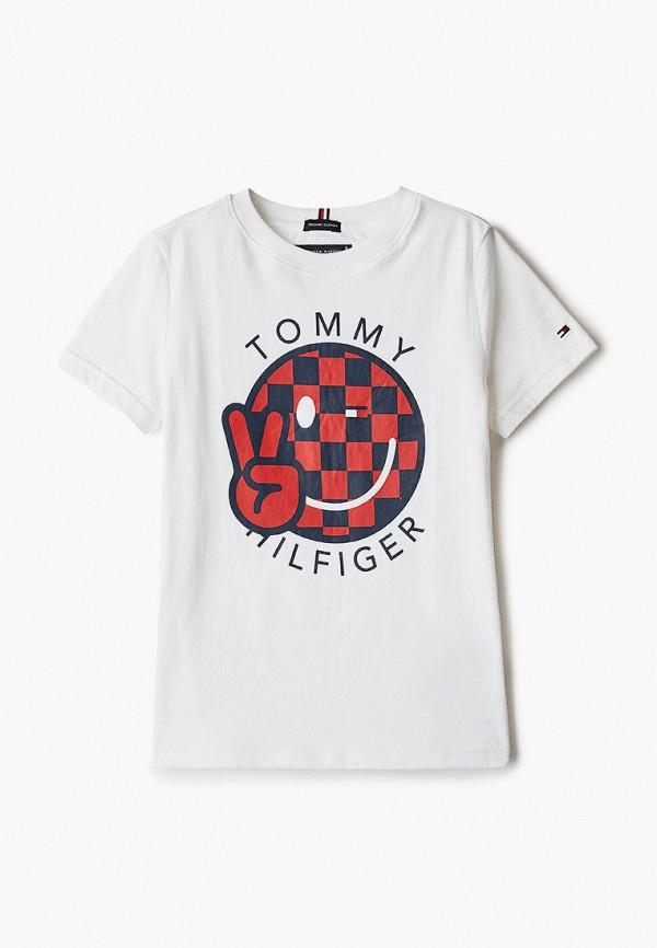 футболка с коротким рукавом tommy hilfiger малыши, белая