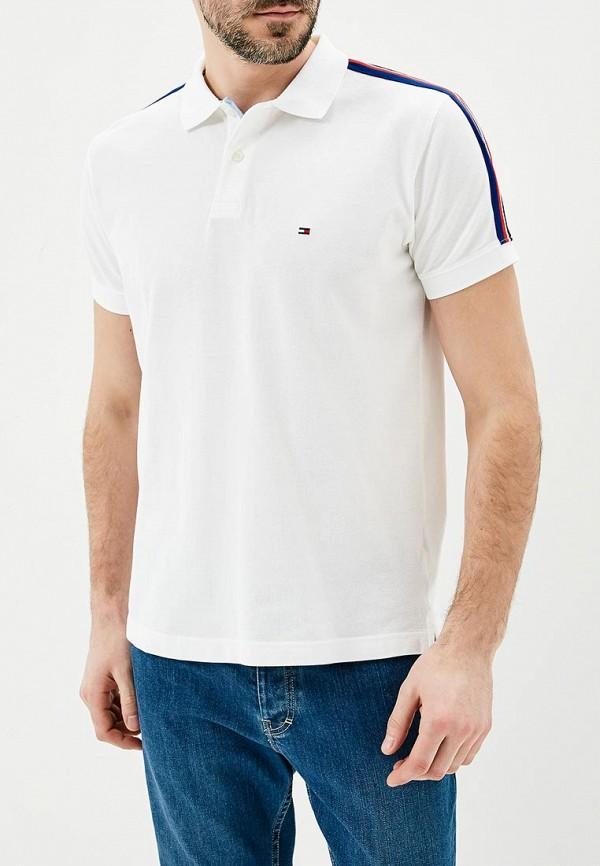 Купить Мужское поло Tommy Hilfiger белого цвета