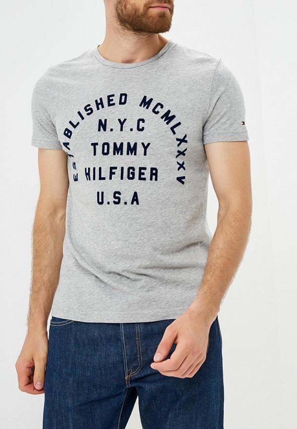 Футболка Tommy Hilfiger Tommy Hilfiger TO263EMBWFM3 футболка tommy hilfiger mw0mw05033 501 cloud htr