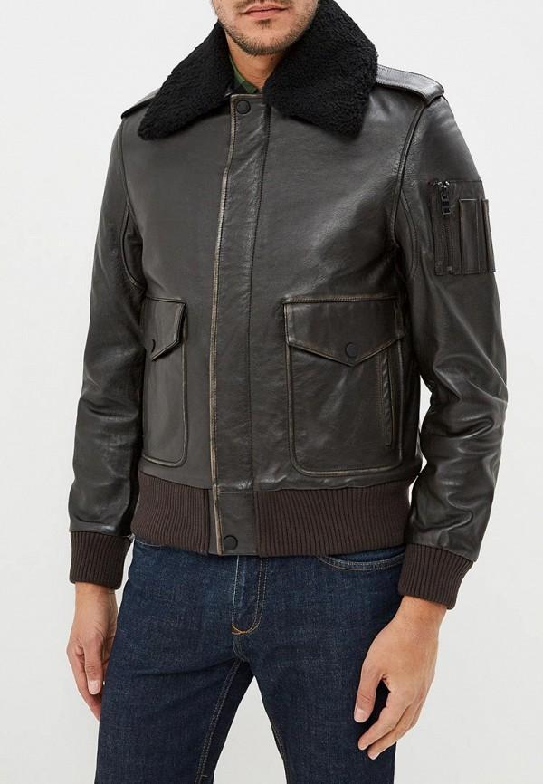 Купить Куртка кожаная Tommy Hilfiger, to263embwfp3, коричневый, Осень-зима 2018/2019