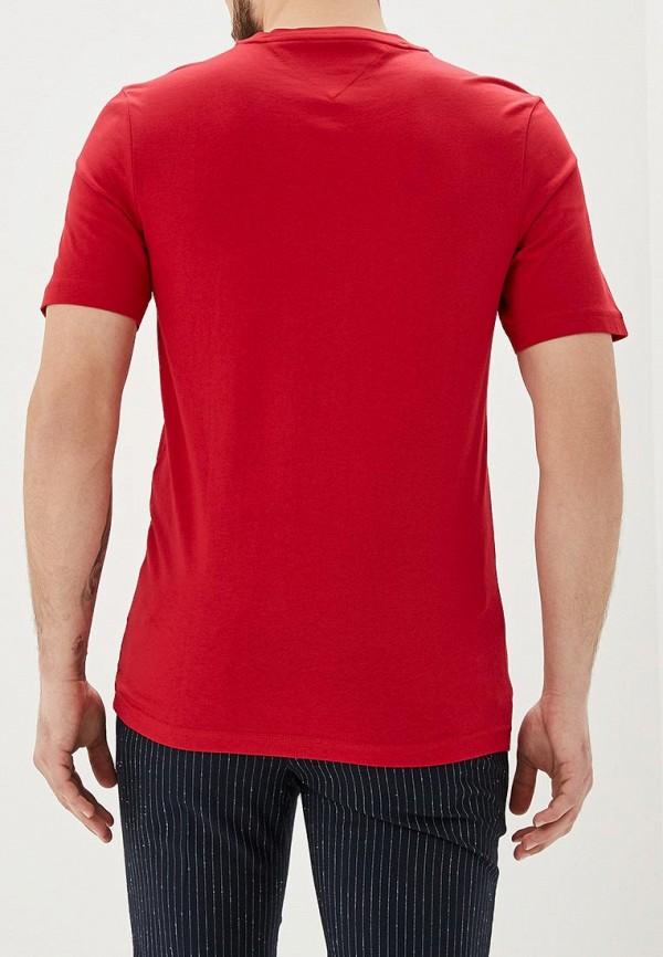 Фото 3 - мужскую футболку Tommy Hilfiger красного цвета