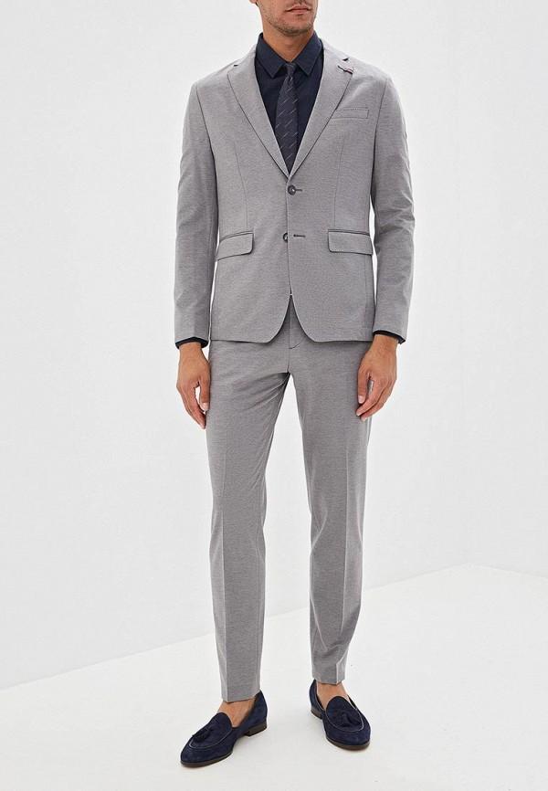 мужской костюм tommy hilfiger, серый