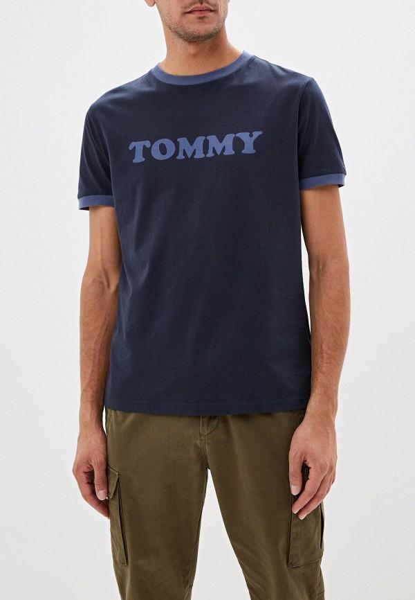 мужская футболка tommy hilfiger, синяя