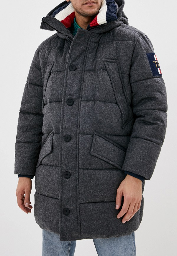мужская куртка tommy hilfiger, серая
