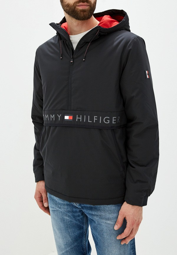 мужская куртка tommy hilfiger, черная