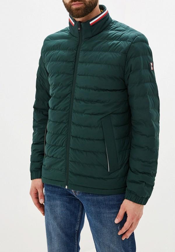 мужская куртка tommy hilfiger, зеленая