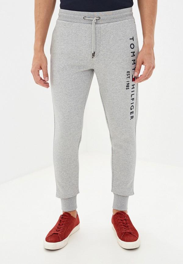 мужские спортивные спортивные брюки tommy hilfiger, серые
