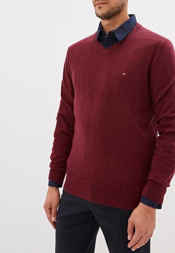 мужской пуловер tommy hilfiger, бордовый