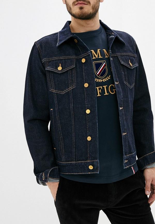 мужская джинсовые куртка tommy hilfiger, синяя