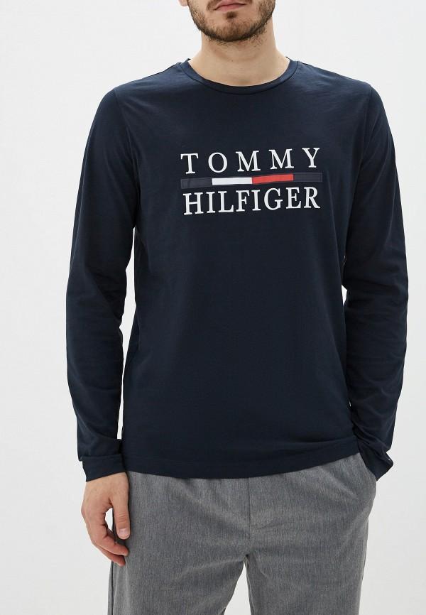 мужской лонгслив tommy hilfiger, синий