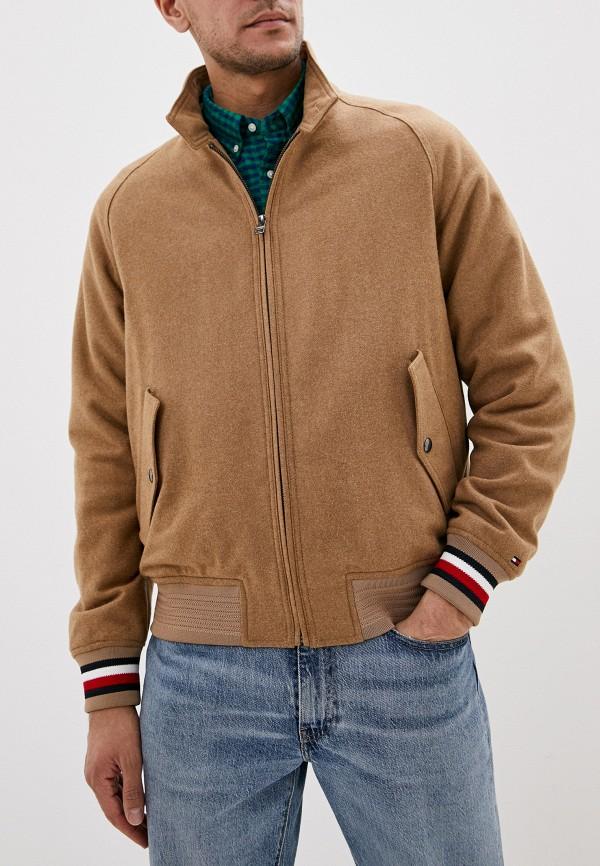 мужская куртка tommy hilfiger, бежевая