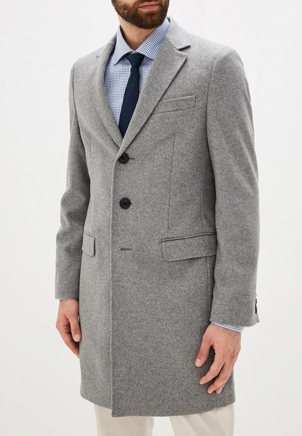 мужское пальто tommy hilfiger, серое