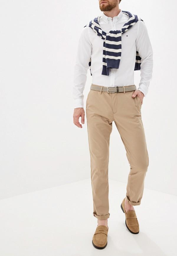 Фото 2 - Мужскую рубашку Tommy Hilfiger белого цвета