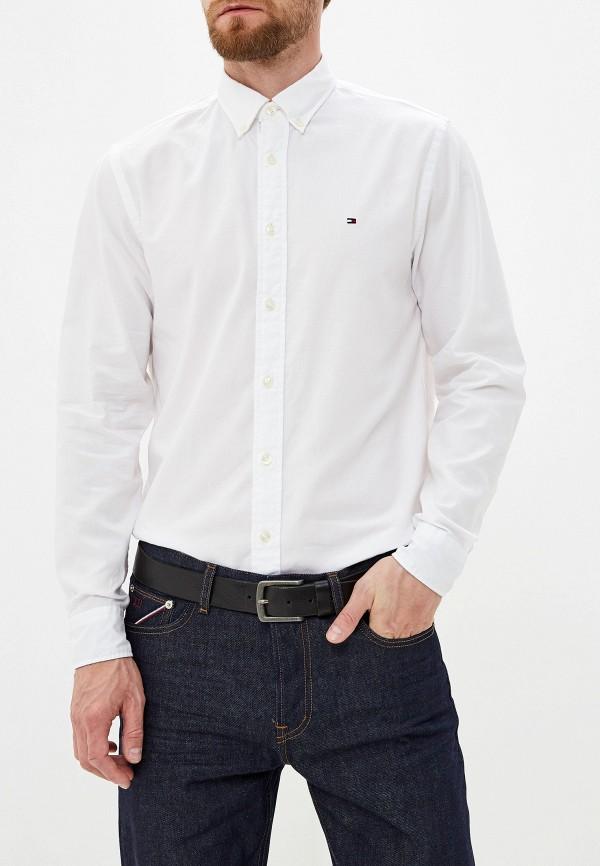 Фото - Мужскую рубашку Tommy Hilfiger белого цвета