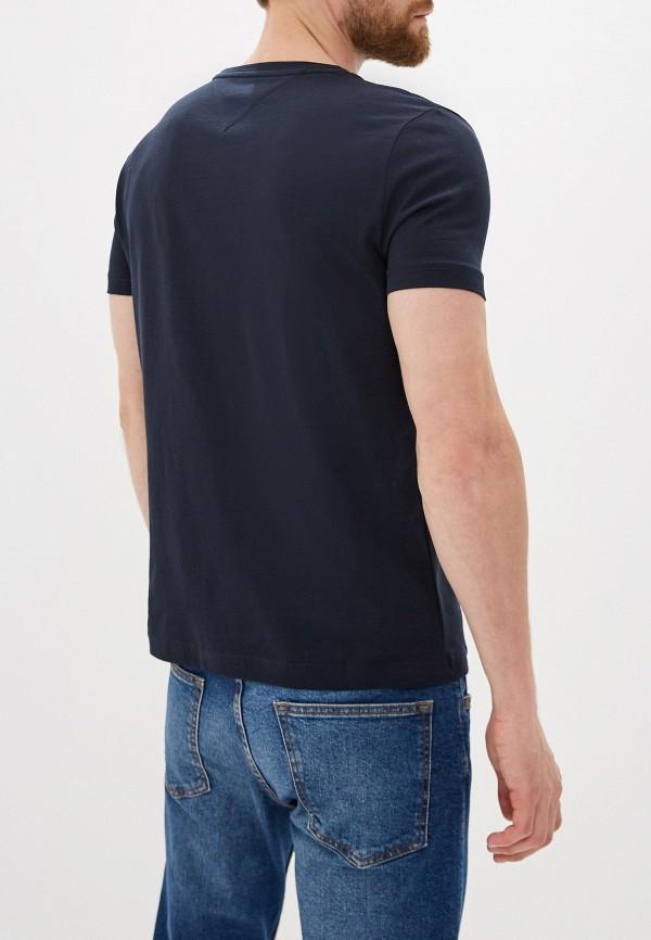 Фото 3 - Мужскую футболку Tommy Hilfiger синего цвета