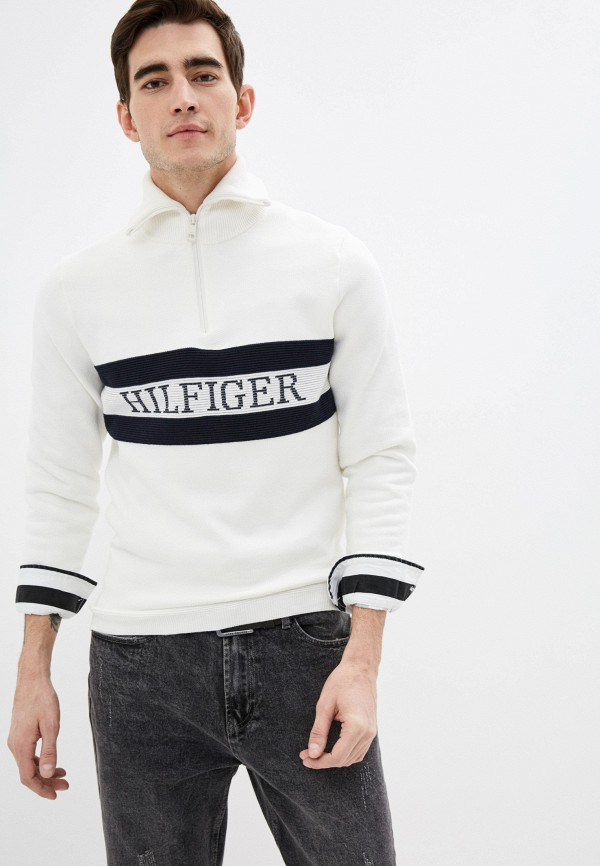 мужской свитер tommy hilfiger, белый