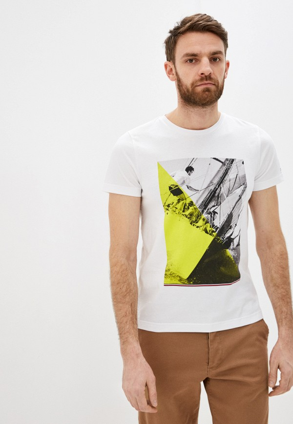 мужская футболка tommy hilfiger, белая